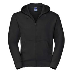 FARR HIGH SCHOOL BLACK ZIPPED HOODIE WITH LOGO